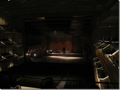 Alice Tully Hall Stage in the Dark