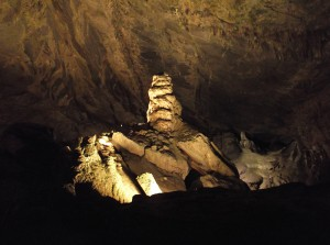 Indian Echo Caverns Stalagmite