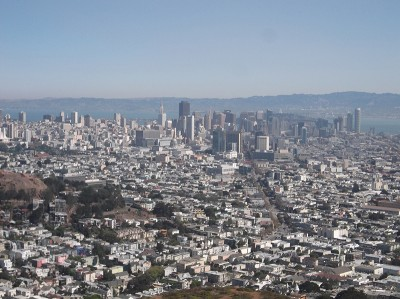 San Francisco Downtown from Twin Peaks