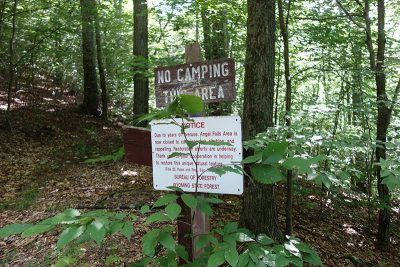 No Camping This Area