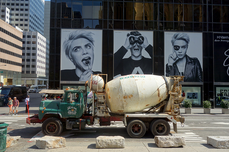 Cara Delevingne and the Cement Mixer