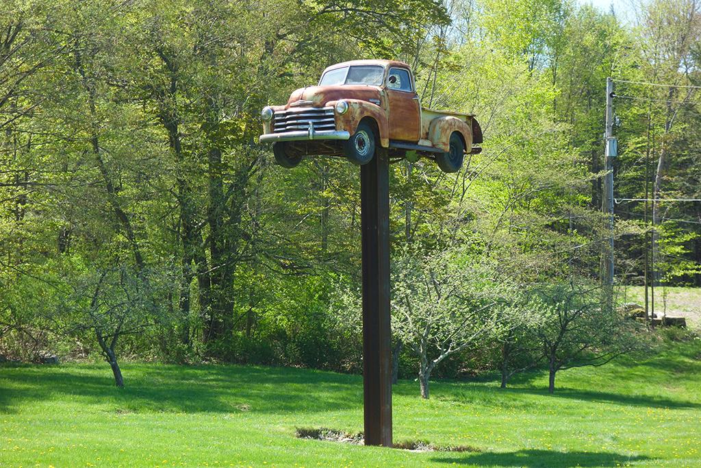 Eagles Mere Vintage Truck Sculpture